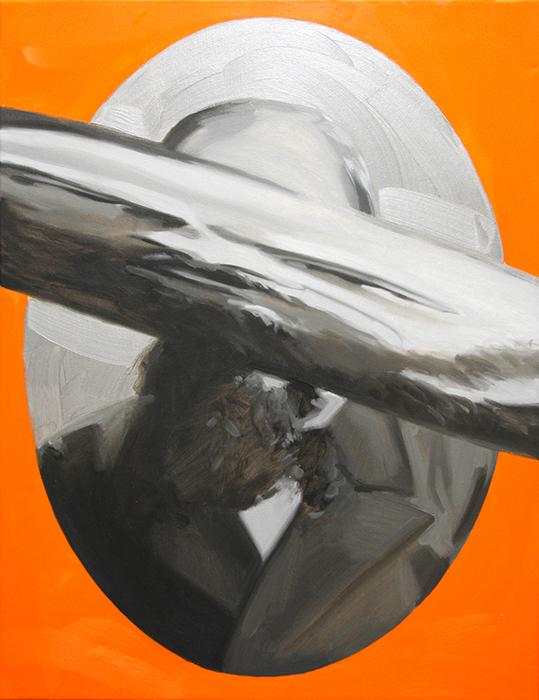Dostoievsky Doppelgänger. Óleo sobre lienzo. 65 x 50 cm.