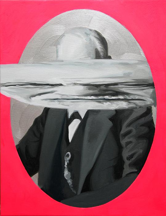 Freud Doppelgänger. Óleo sobre lienzo. 65 x 50 cm.