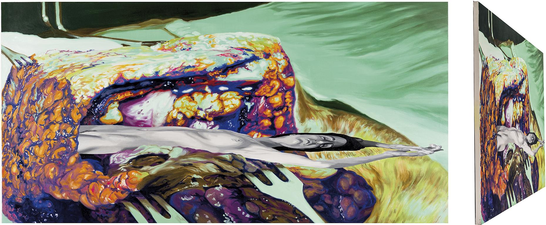 Abel. Óleo sobre lienzo. 73 x 146 cm.