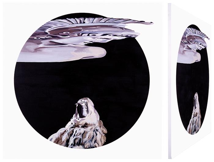 Belerofonte y la quimera. Óleo sobre lienzo. 70 x 70 cm.