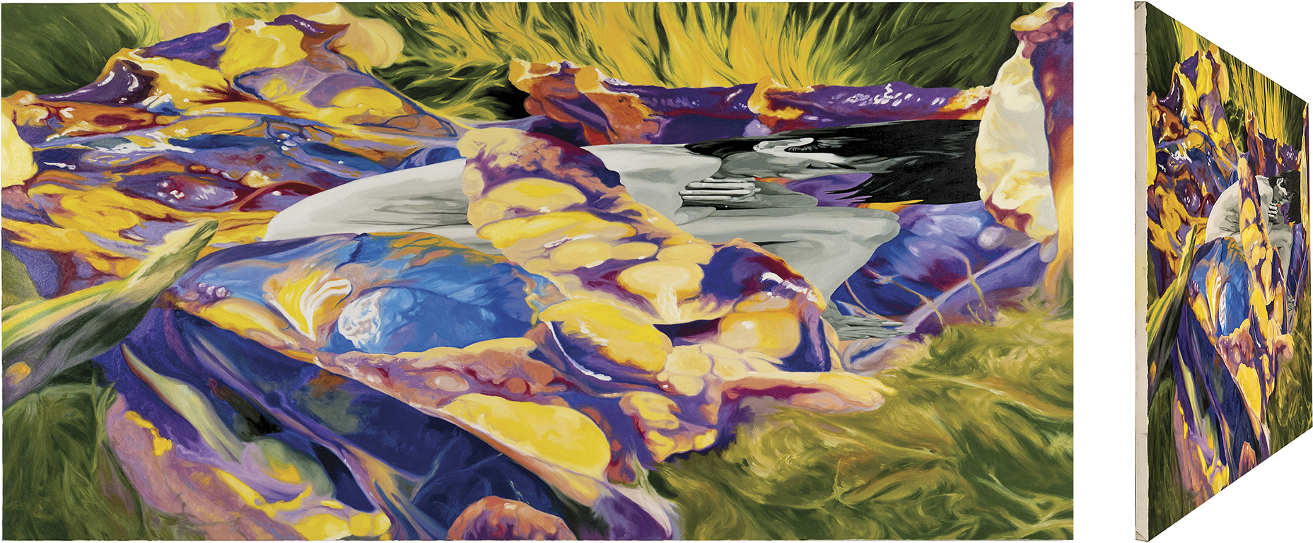 El entierro de Atala. Óleo sobre lienzo. 73 x 146 cm.