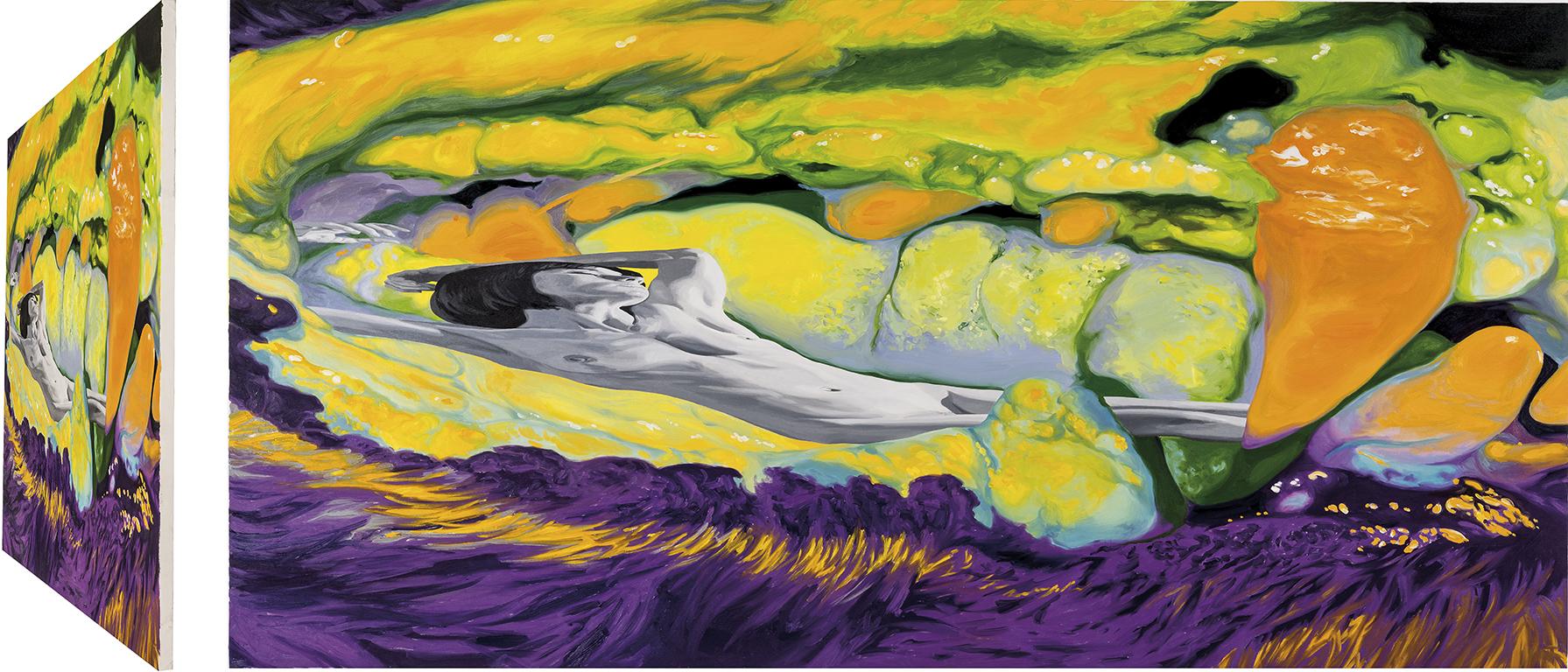 Endimión. Óleo sobre lienzo. 90 x 180 cm.