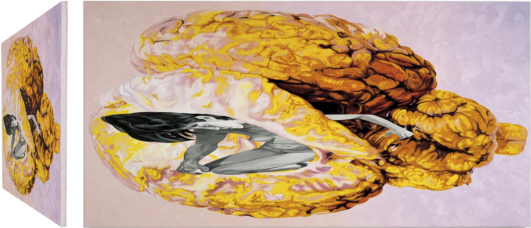 Gálata Ludovisi. Óleo sobre lienzo. 73 x 146 cm