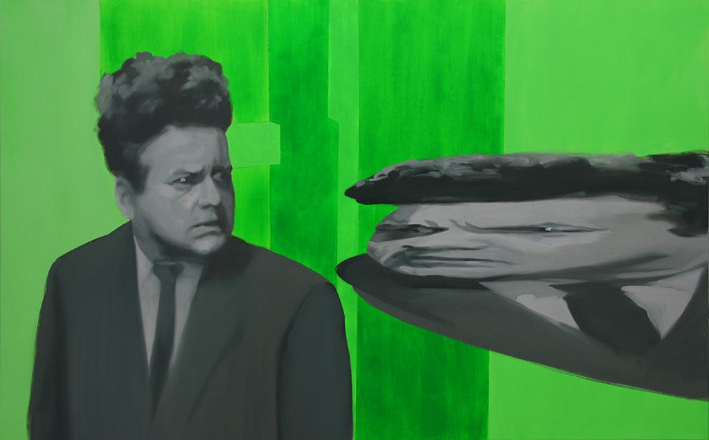 Henry anamorfo. Acrílico y óleo sobre lienzo. 80 x 130 cm.