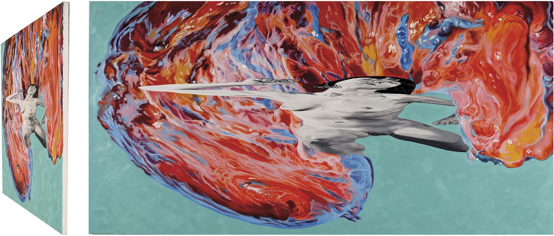 Laocoonte. Óleo sobre lienzo. 73 x 146 cm.