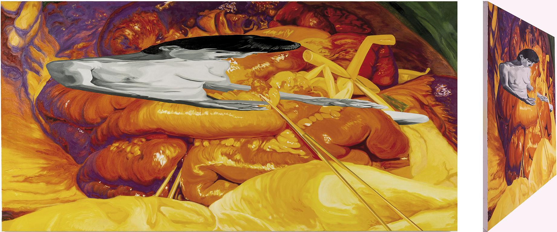 Magdalena penitente. Óleo sobre lienzo. 73 x 146 cm.