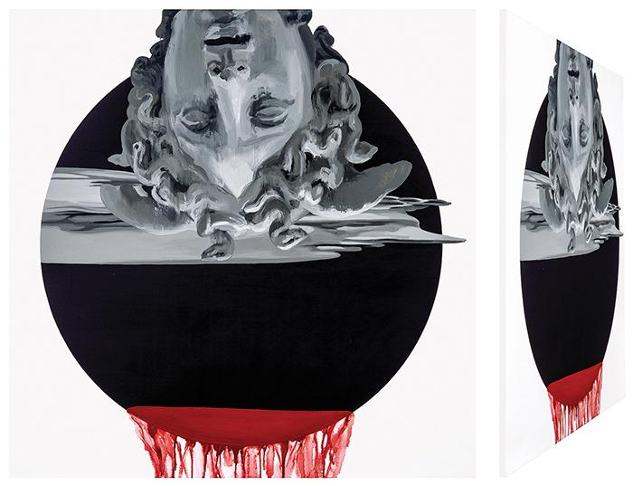 Perseo y Medusa II. Óleo sobre lienzo. 70 x 70 cm.