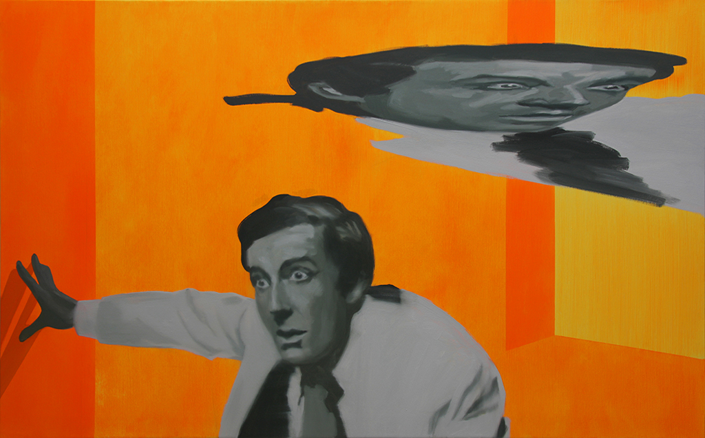 Peter anamorfo. Acrílico y óleo sobre lienzo. 80 x 130 cm.