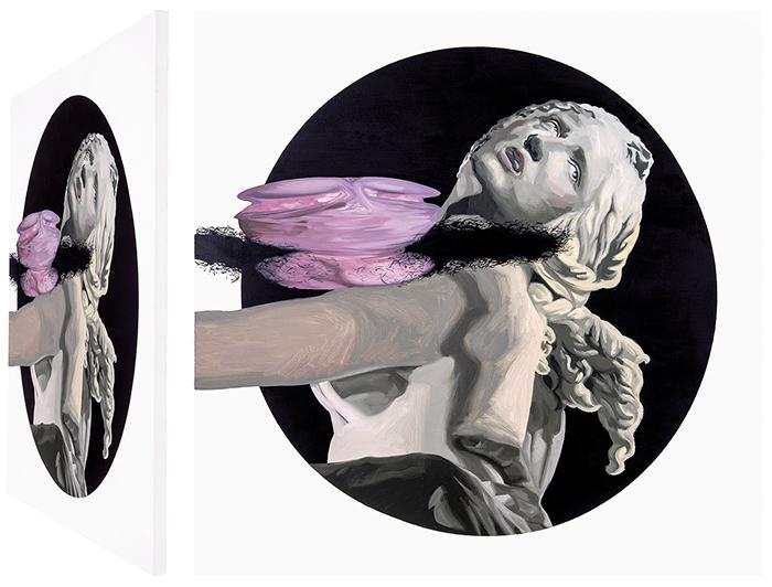 Proserpina y Plutón. Óleo sobre lienzo. 70 x 70 cm.