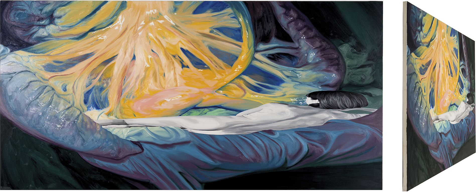 Venus del espejo. Óleo sobre lienzo. 90 x 180 cm.
