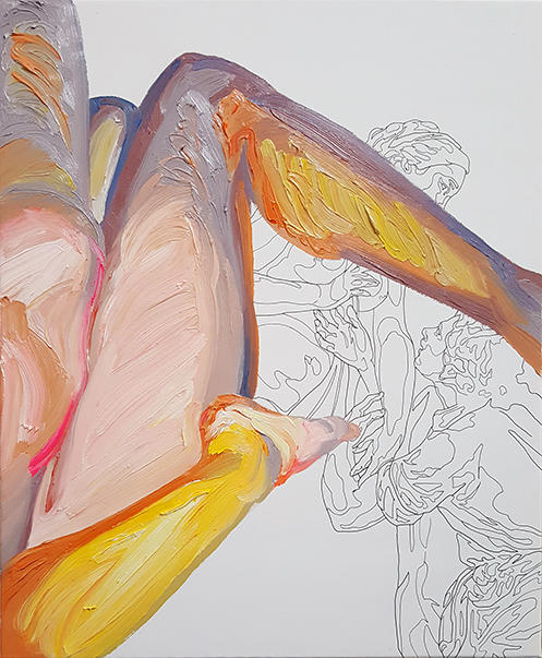 «al tocarlo el marfil se ablanda». Óleo sobre lienzo. 46 x 39 cm.