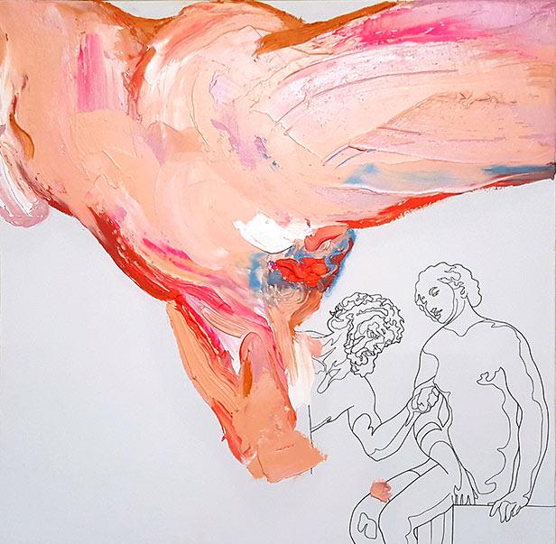 «el arte se disimulaba bajo el arte». Óleo sobre lienzo. 33 x 33 cm