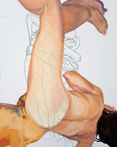 «¡Es un cuerpo!». óleo sobre lienzo. óleo sobre lienzo. 41 x 33 cm.