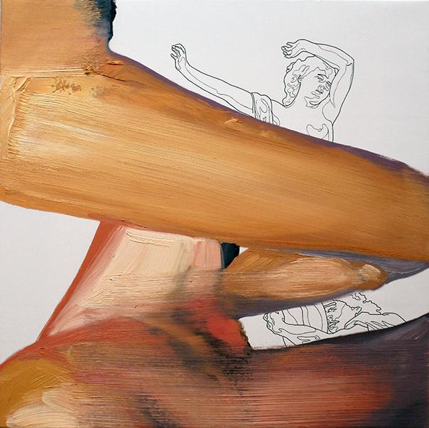 «temeroso de que no sea cierto». Óleo sobre lienzo. 41 x 41 cm.