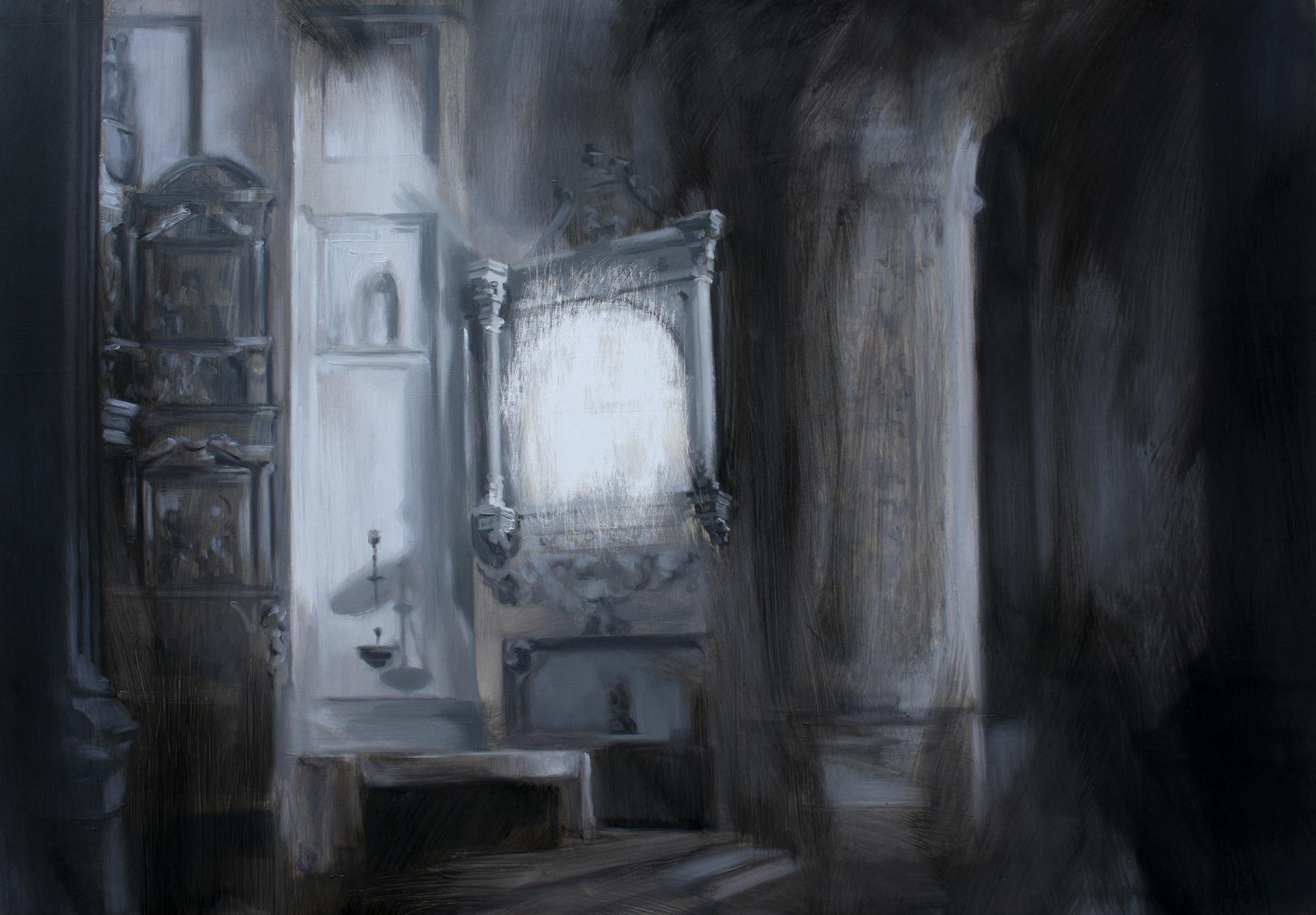Hueco en el Monasterio de la Santa Espina. Óleo sobre lienzo. 81 x 116 cm.