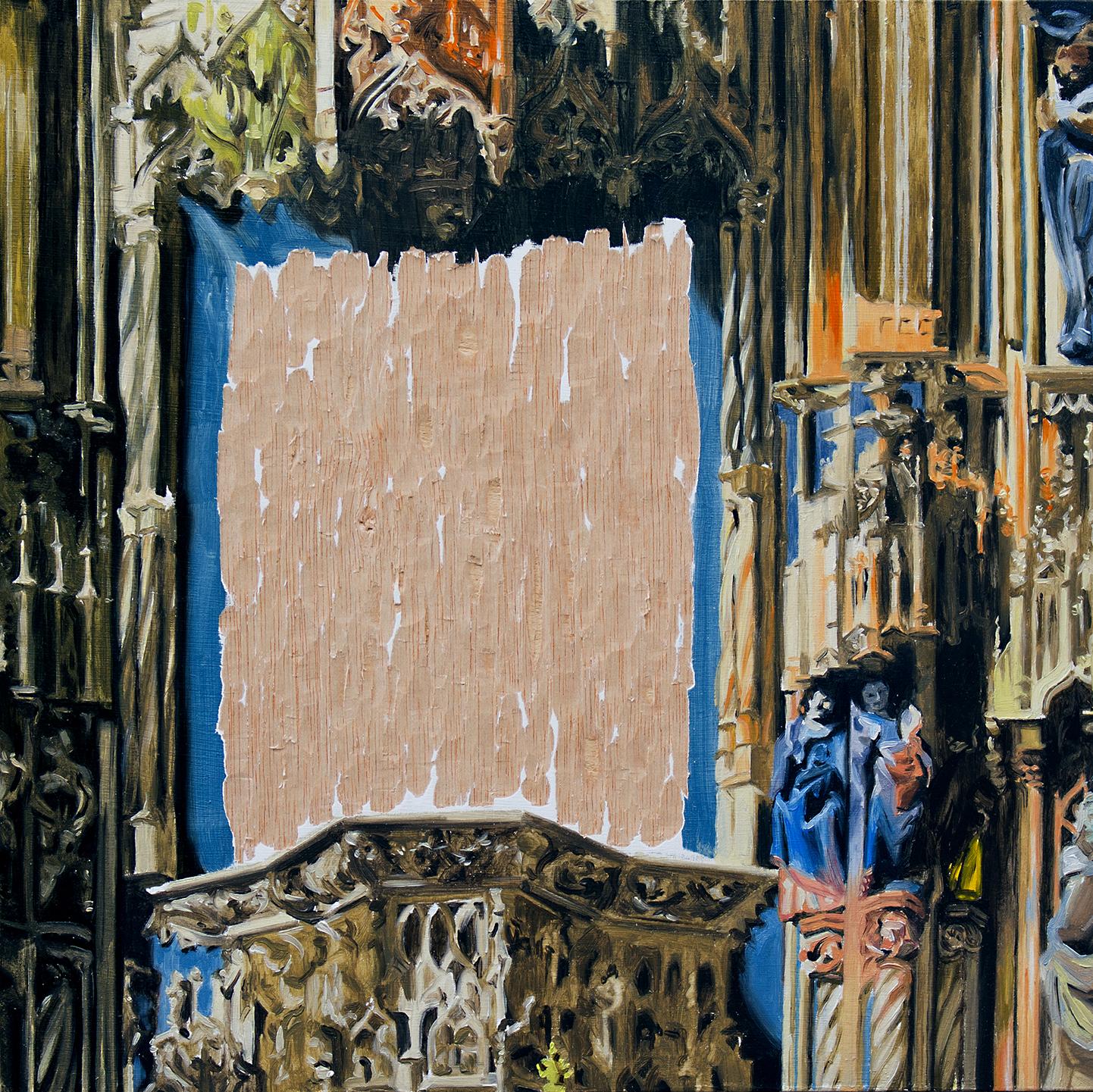 Hueco en la Catedral de Burgos. Óleo sobre tabla. 35 x 35 cm.