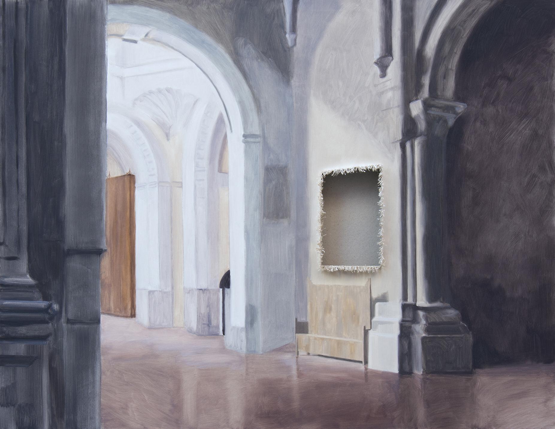 Sustracción en el Monasterio de la Santa Espina (Claudio Coello). Óleo sobre lienzo. 100 x 130 cm.