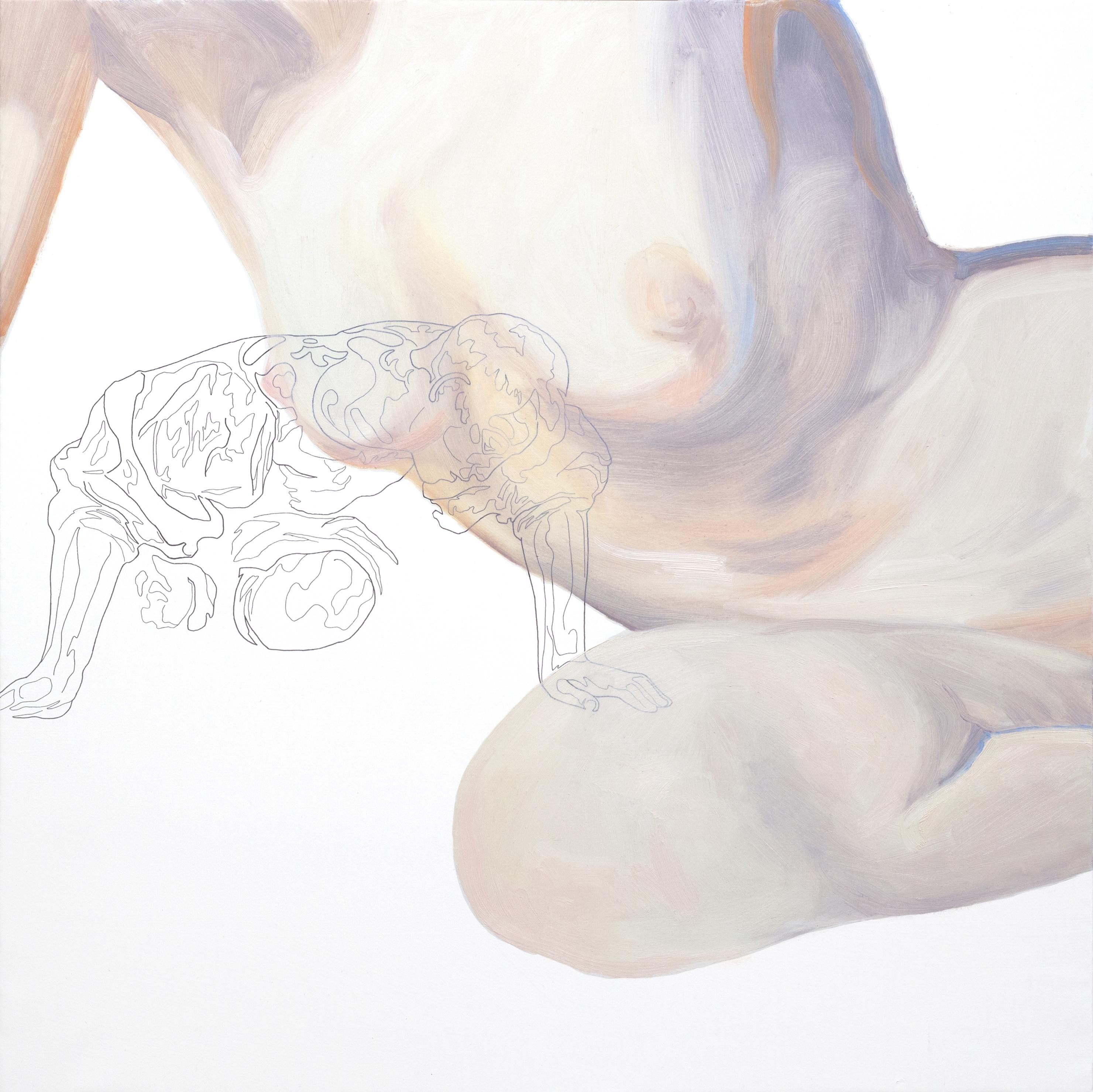 Todo aquello por lo que él mismo es digno de admiración. Tinta china y óleo sobre lienzo. 80 x 80 cm.