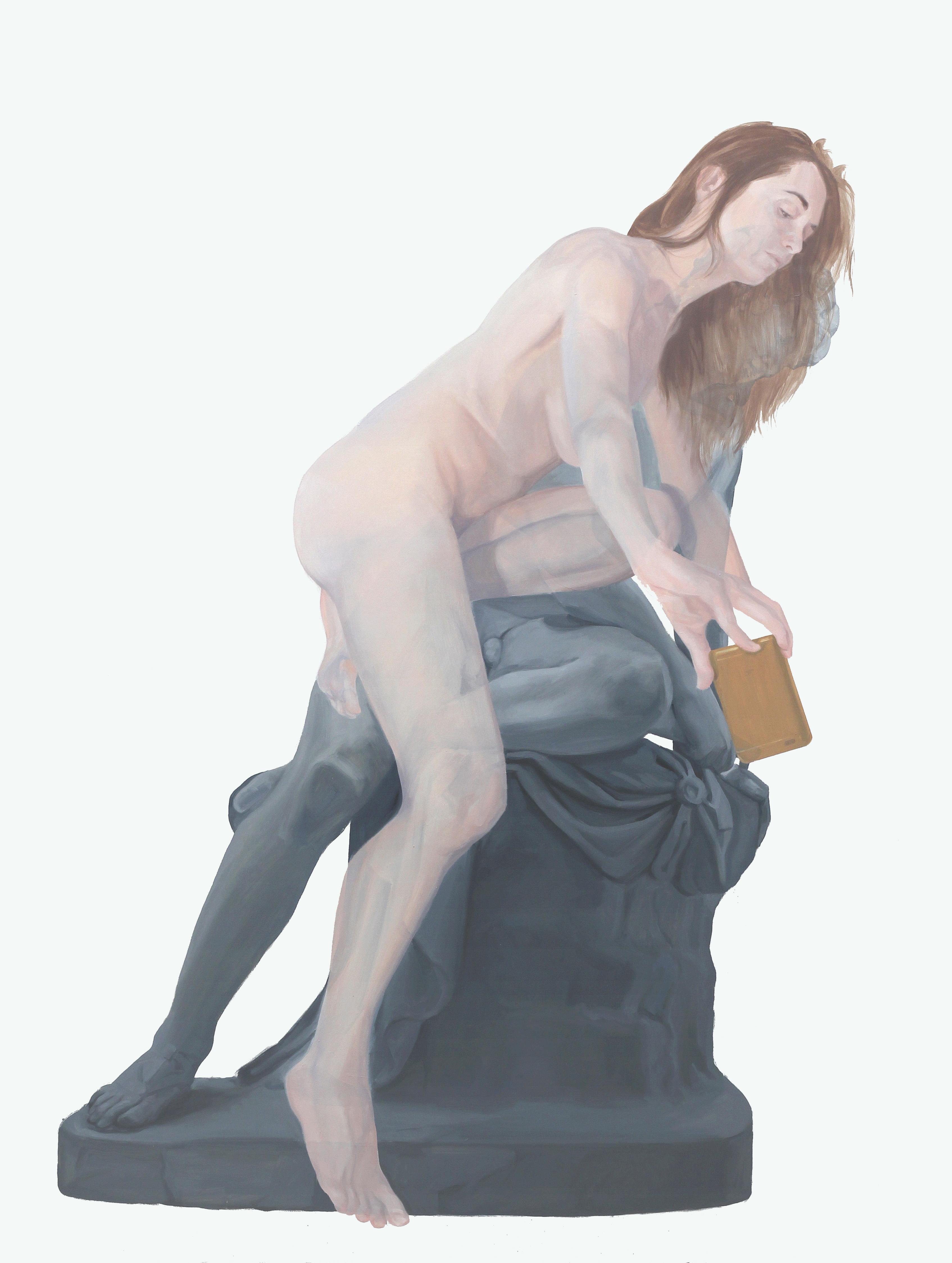 Y se consume de amor por sus propios ojos. Óleo sobre lienzo. 146 x 114 cm.